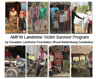8 Landmine Survivors Assisted by CLF in Rural Battambang Cambodia