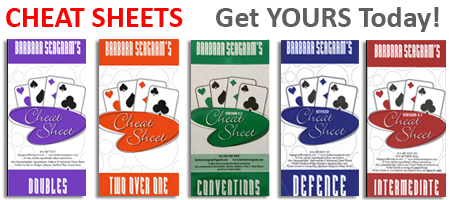 Get your Doubles, Two Over One, Intermediate, Advanced and Defence Cheat Sheets